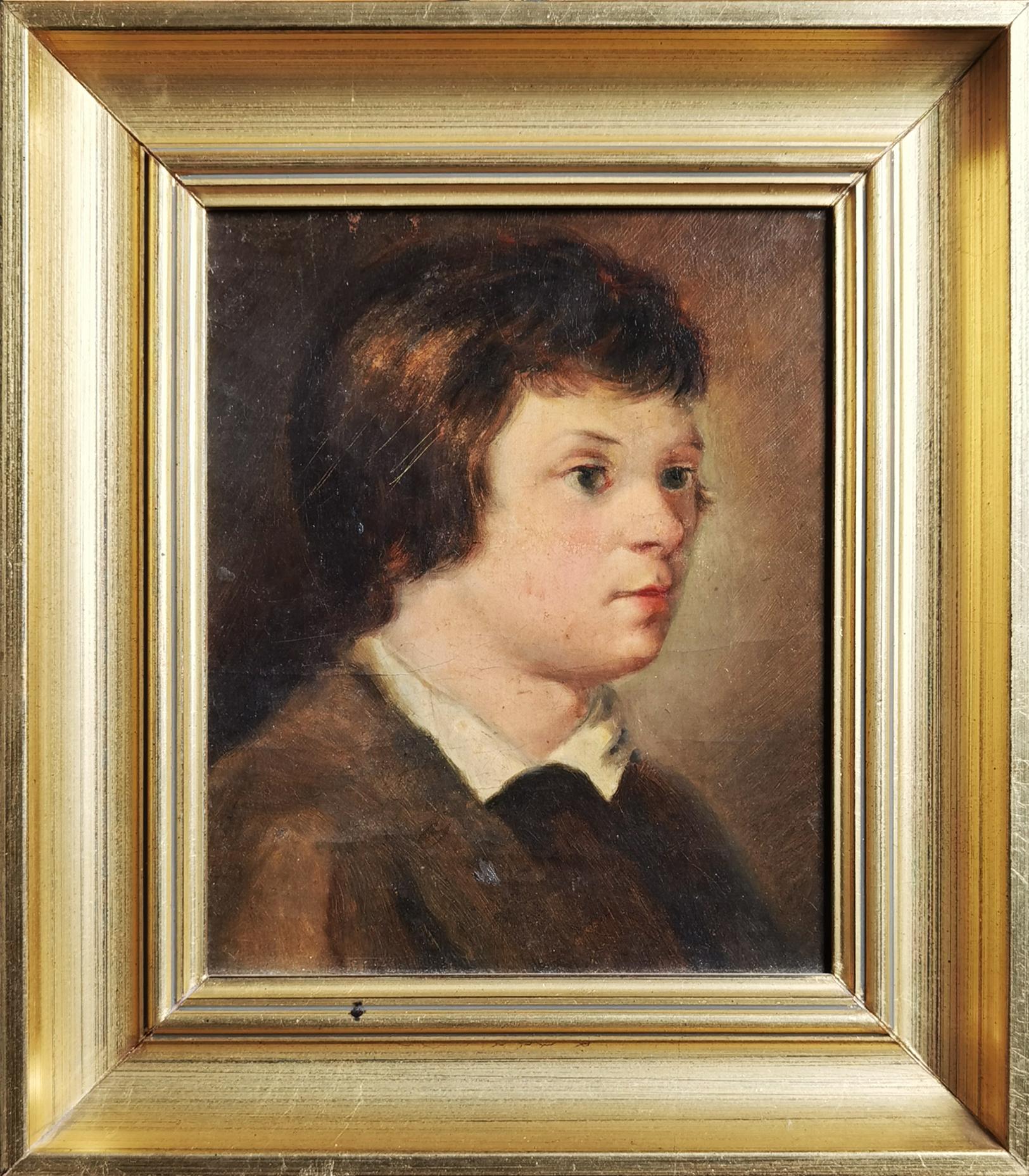 Portret chłopca w białym kołnierzykiem