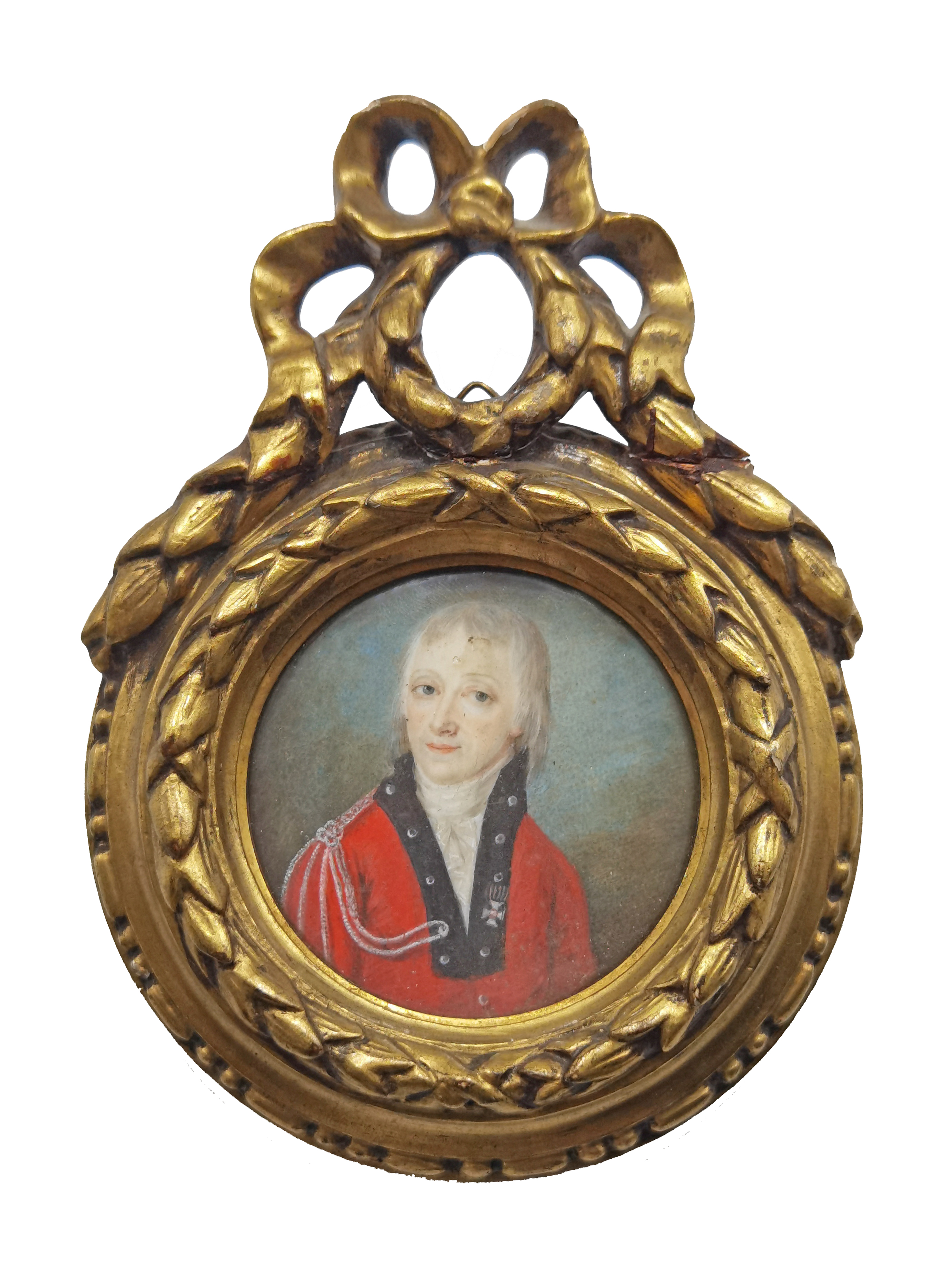 Portret mężczyzny w czerwonym mundurze