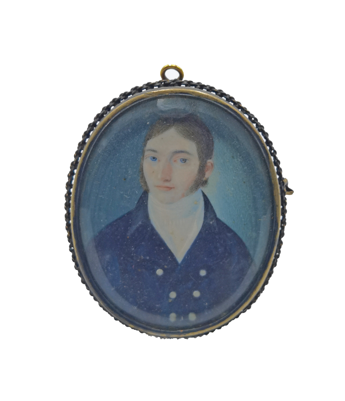 Portret mężczyzny - miniatura