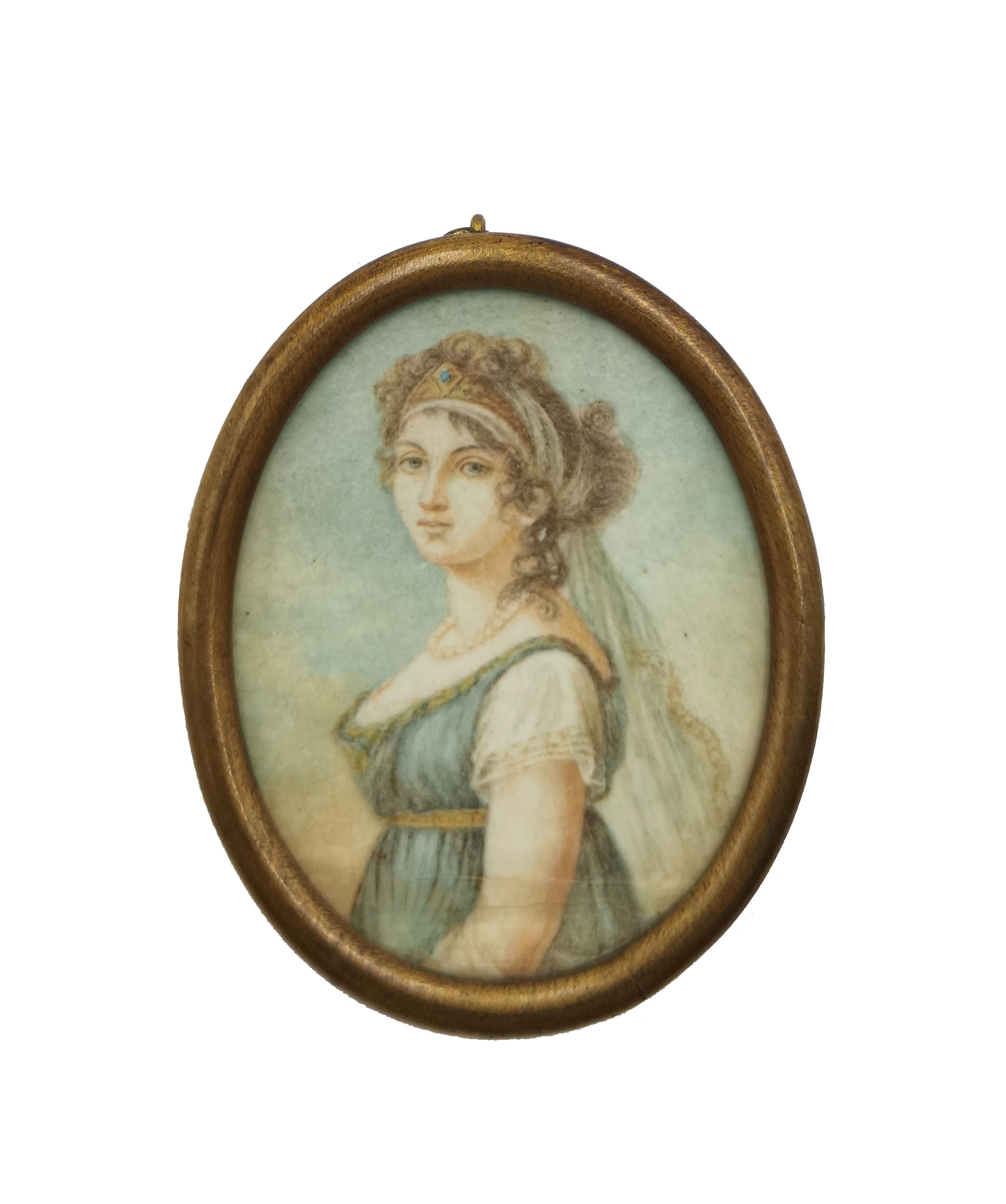 Portret kobiety w perłach - miniatura