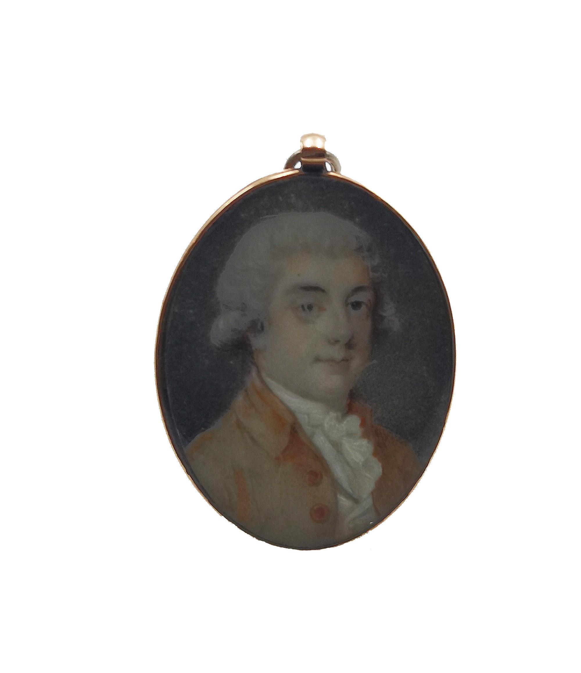 Portret mężczyzny w peruce - miniatura