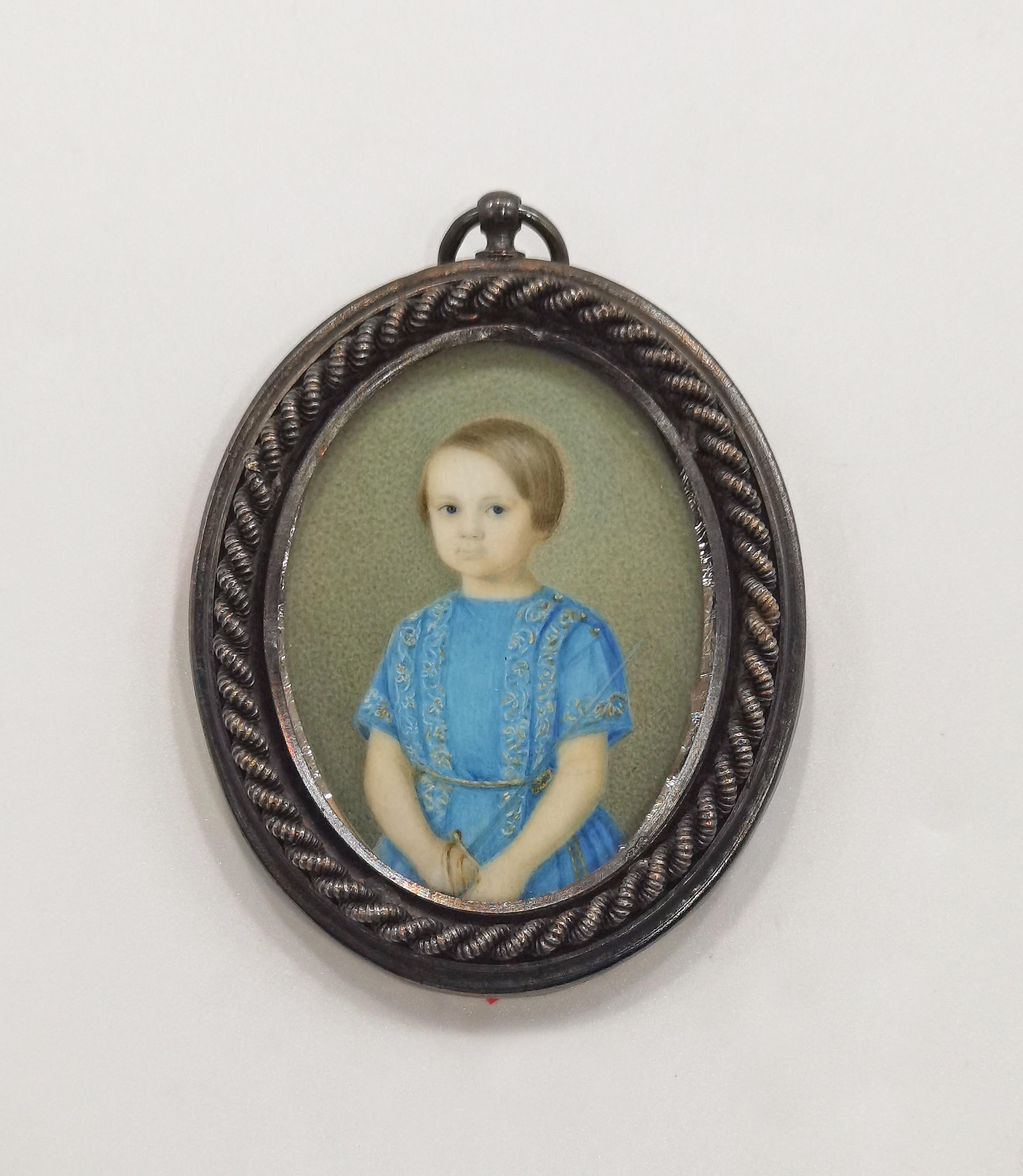 Portret dziecka z szabelką - miniatura