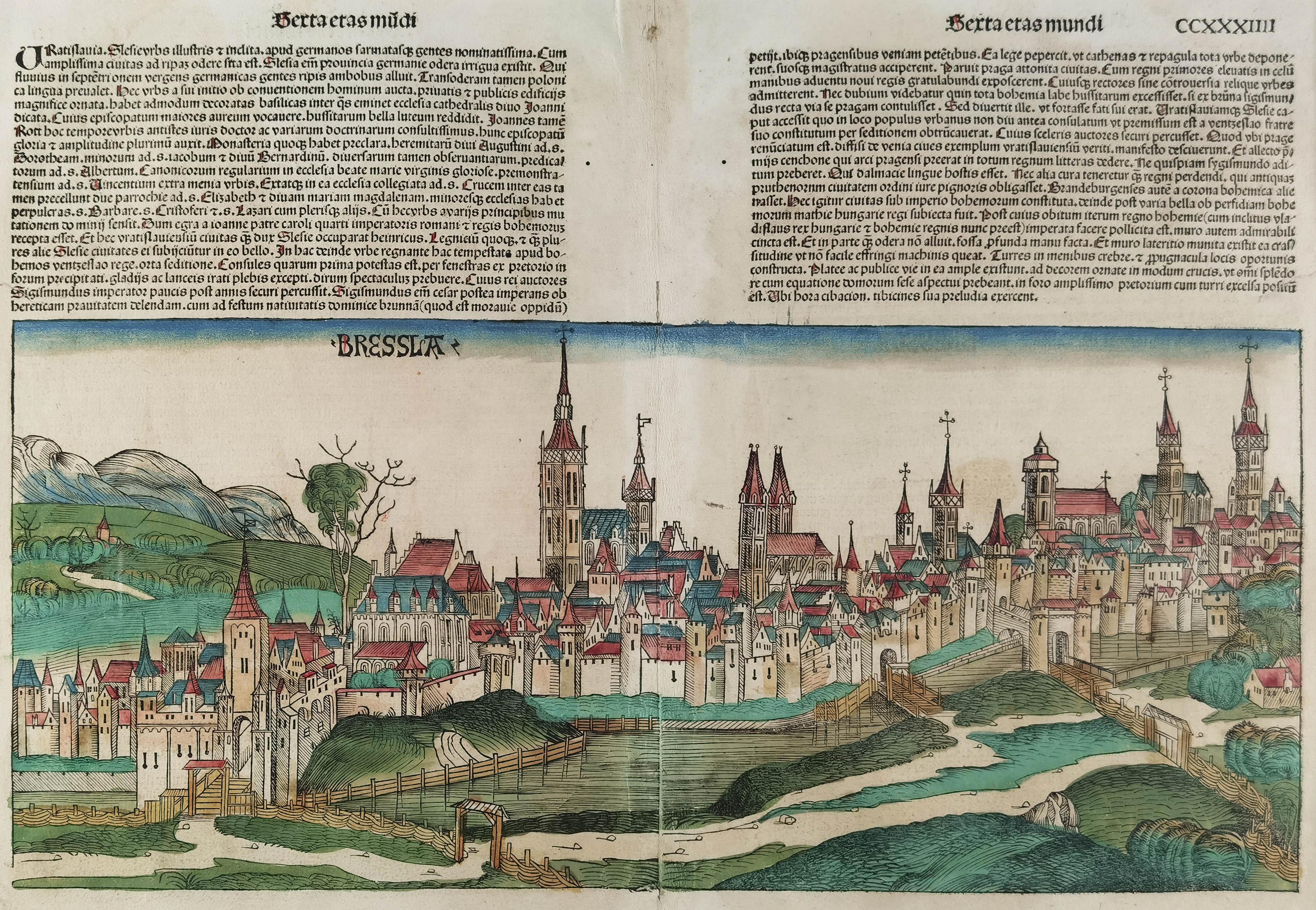 Widok Wrocławia od południowego wschodu