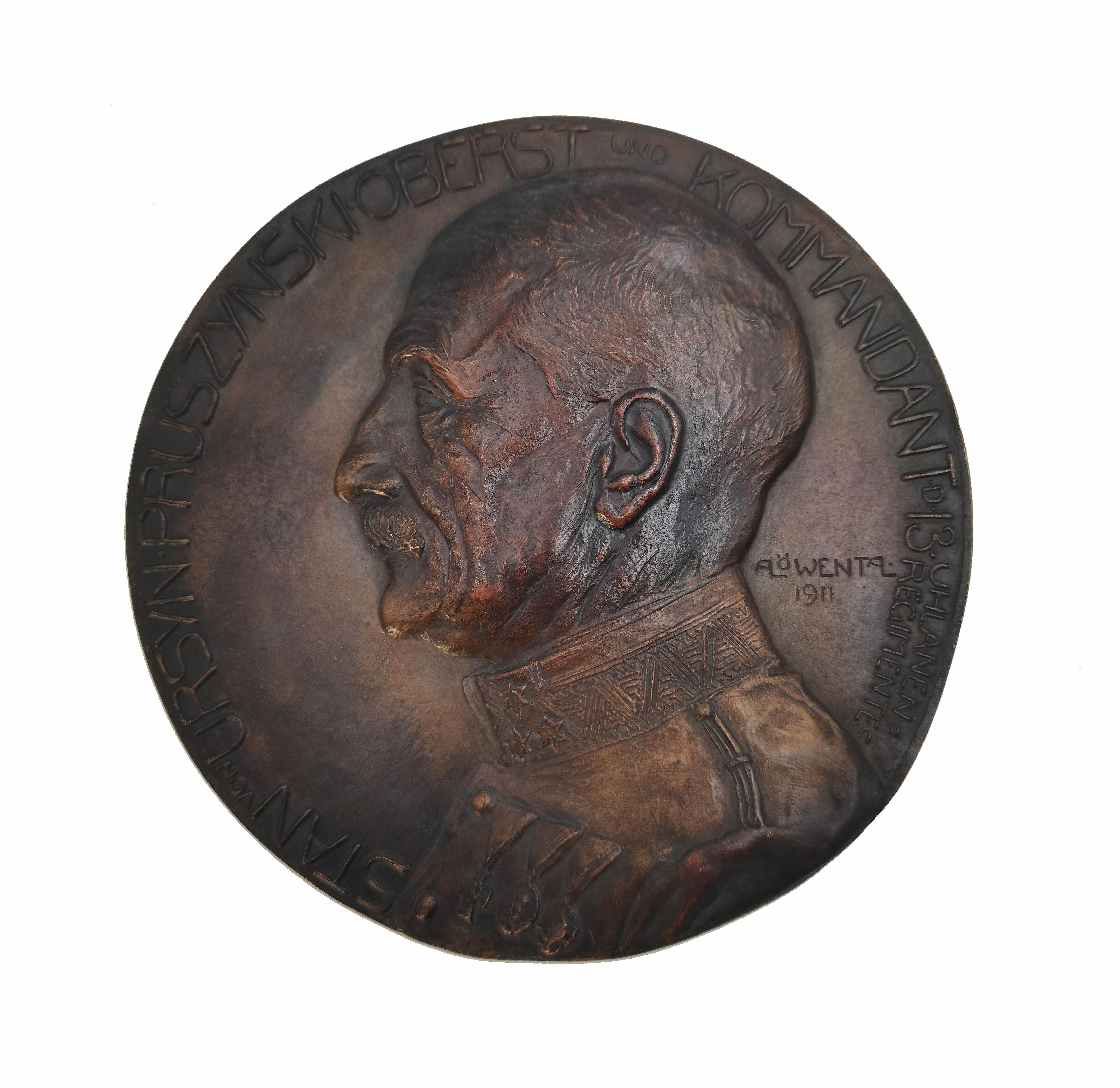 Medalion z portretem gen. Stanisława Ursyn-Pruszyńskiego