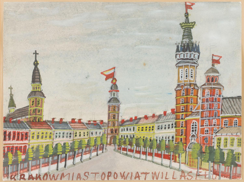 Widok na krakowski rynek z Kościołem Mariackim
