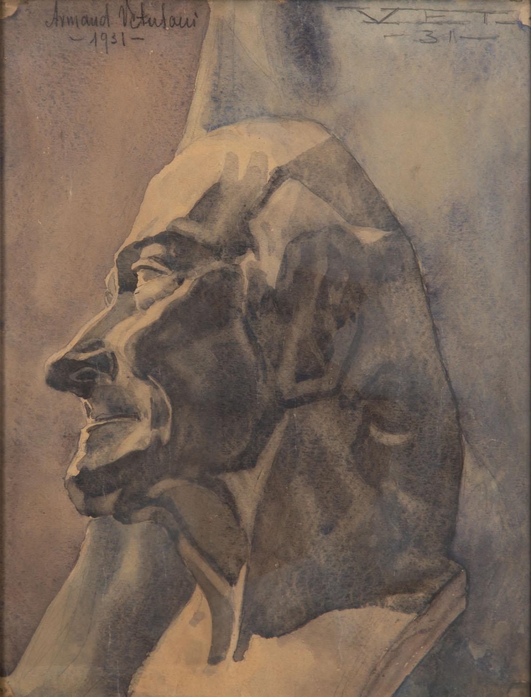 Studium rzeźbiarskiego popiersia mężczyzny, 1931