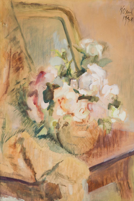 Martwa natura z kwiatami na toaletce, 1938