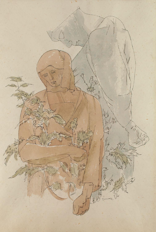"""""""Kamień i roślina"""", około1957"""