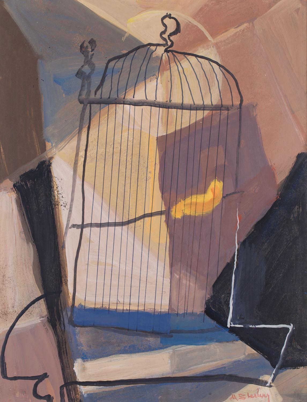 Pusta klatka z żółtym piórkiem, 1950