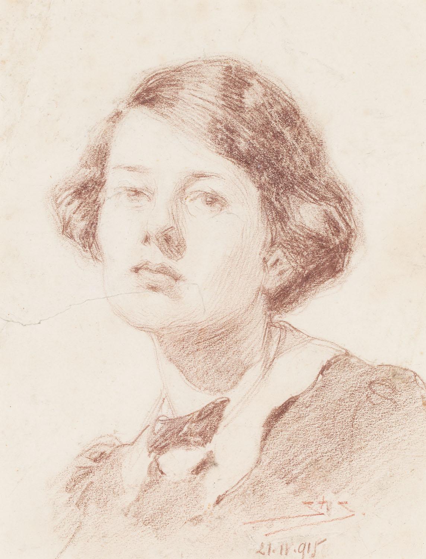 Portret młodej kobiety, 1915