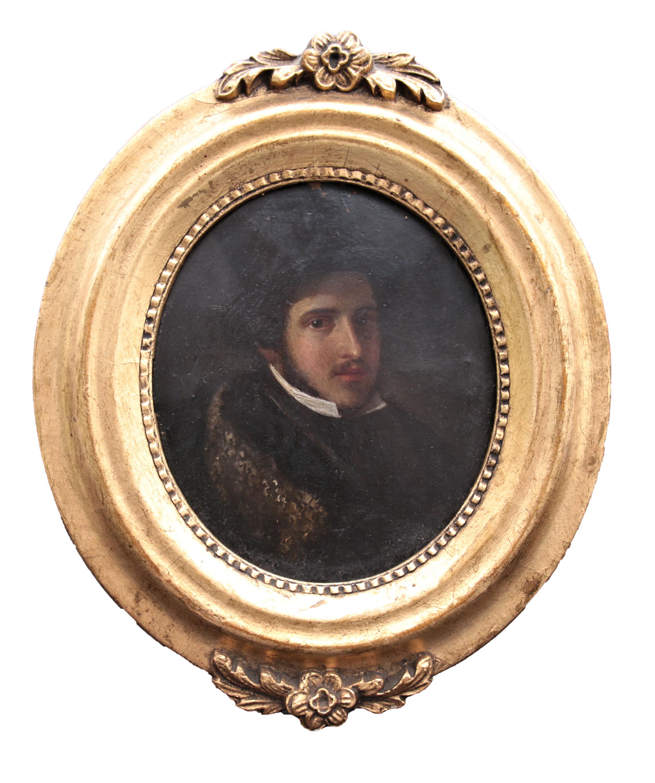 Miniatura z portretem ks. Poniatowskiego