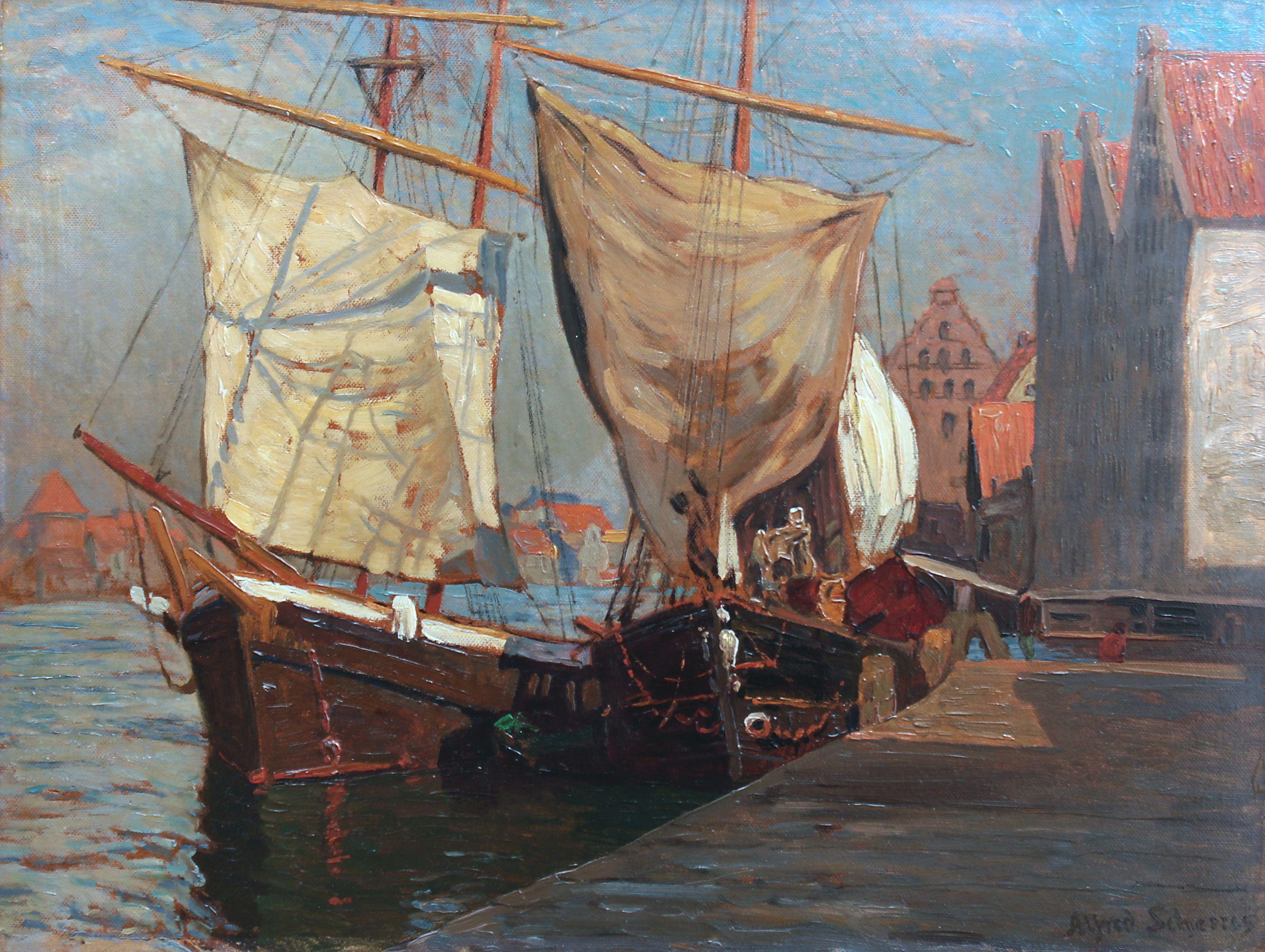 Żaglowce na Motławie, 1905 r.