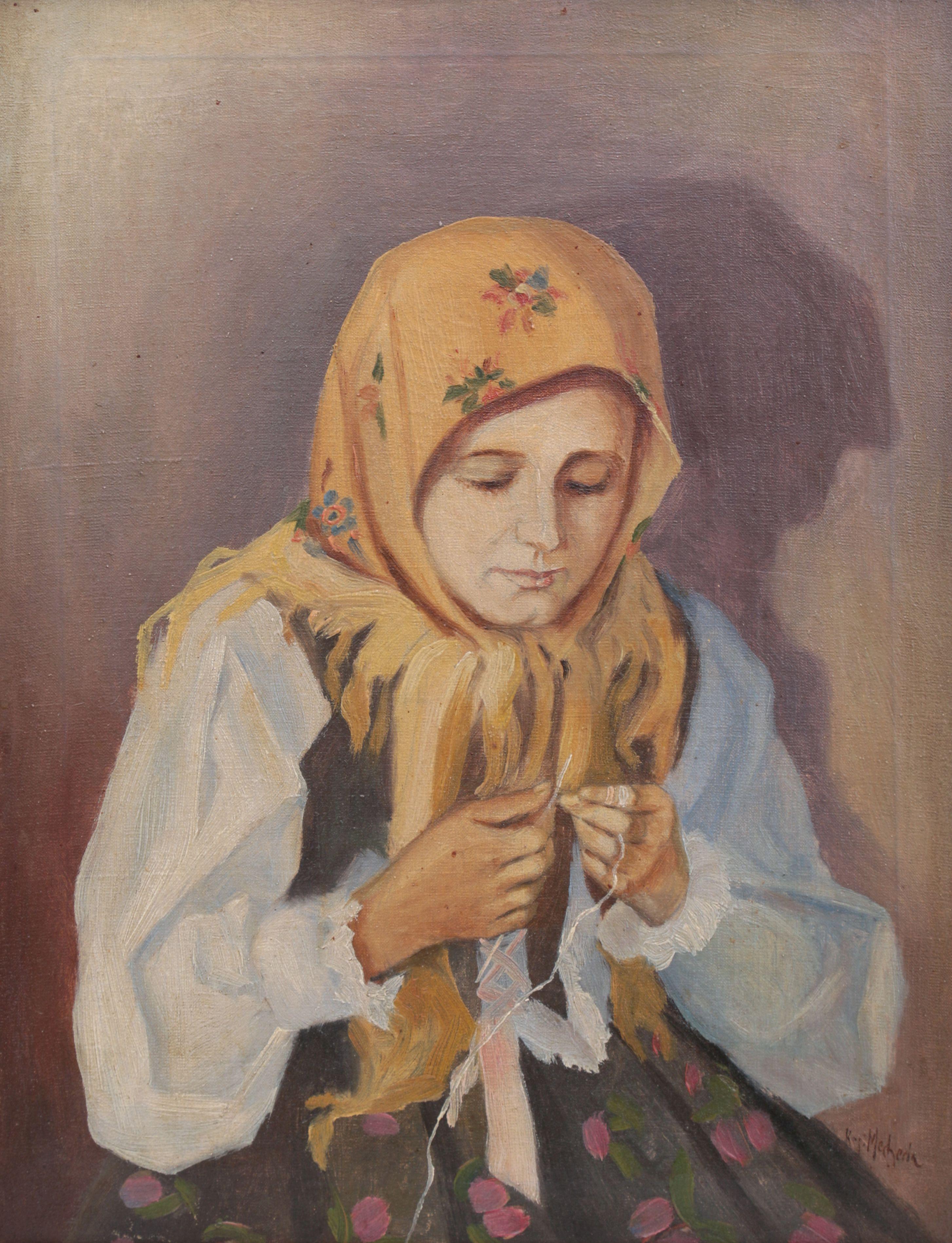 Portret dziewczyny w stroju ludowym