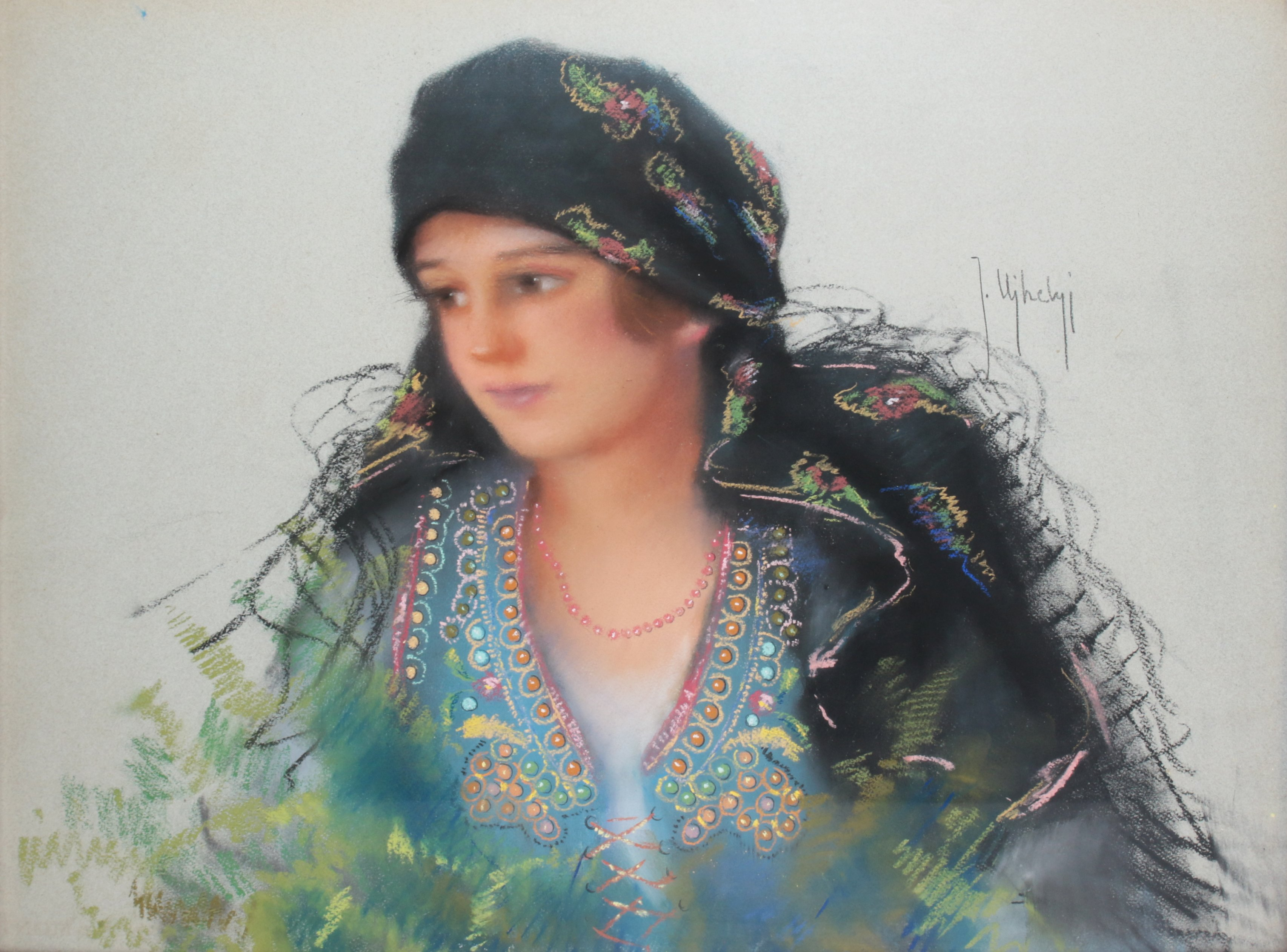 Portret kobiety w stroju ludowym