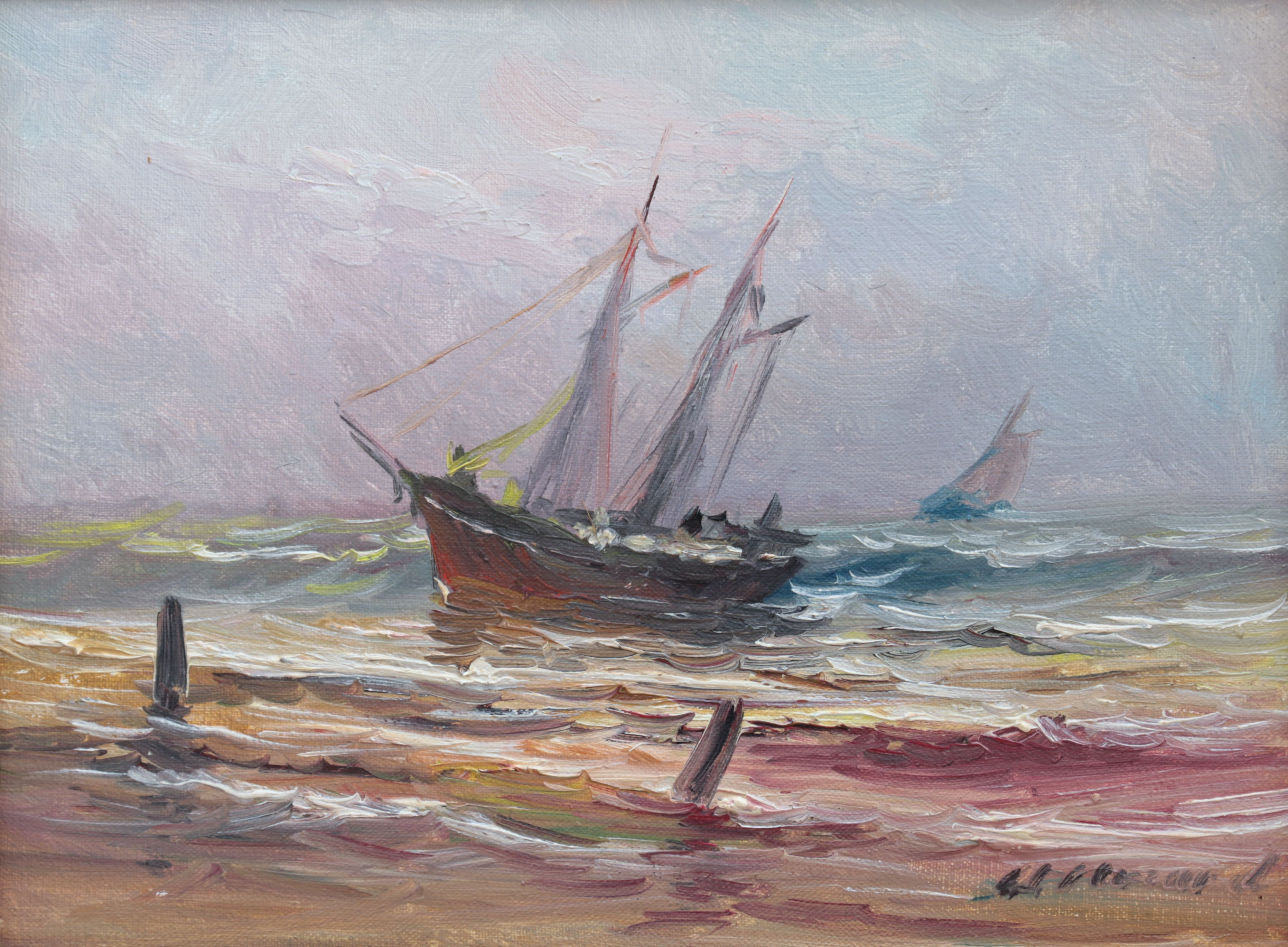 Żaglowiec przy brzegu