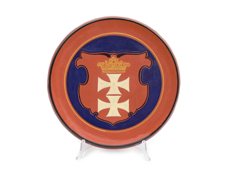 Talerz z herbem Gdańska