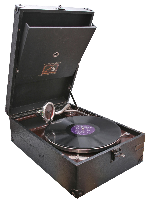 Gramofon z zestawem 3 płyt
