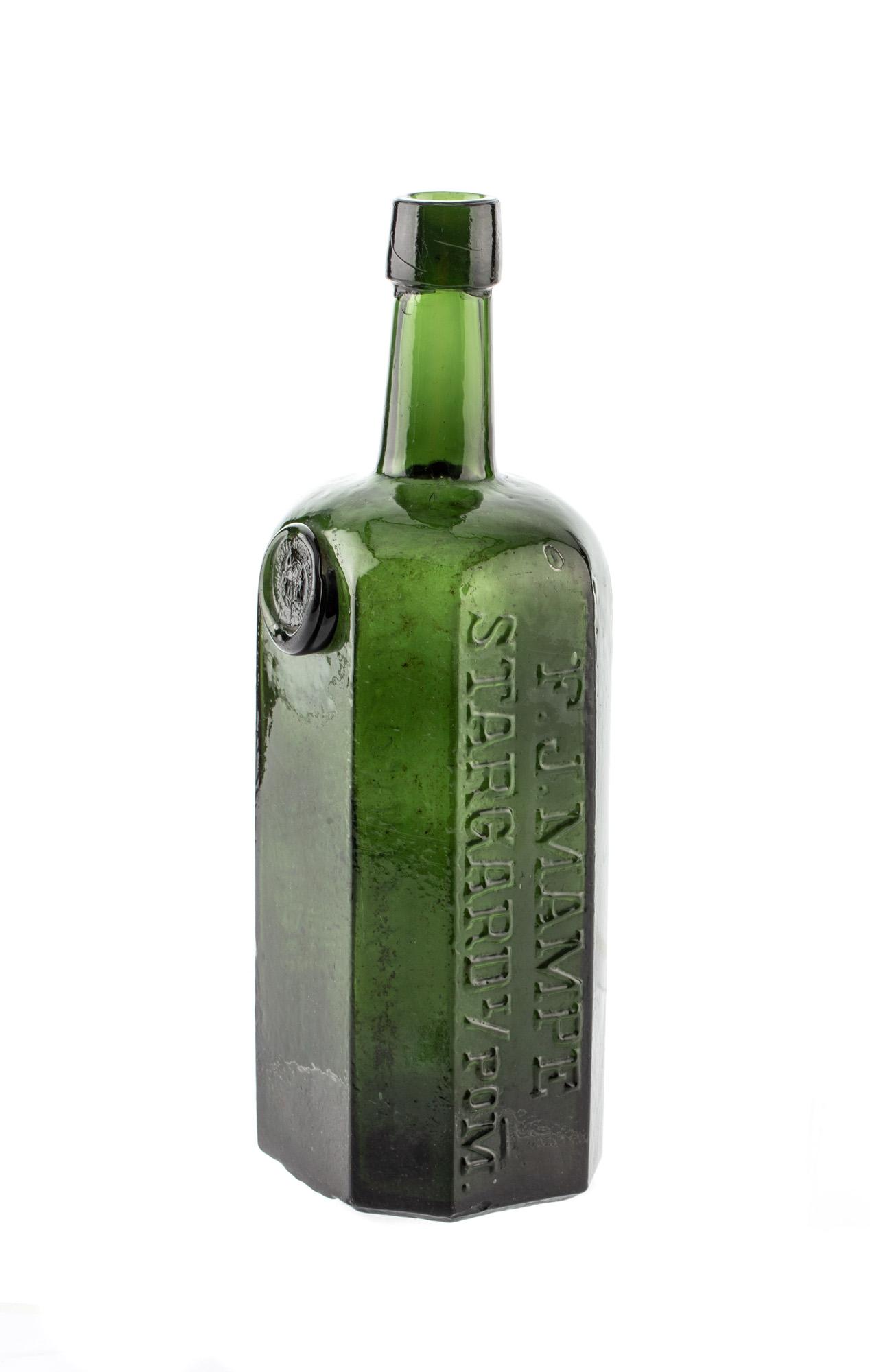 Butelka od likieru, 2 poł. XIX w.