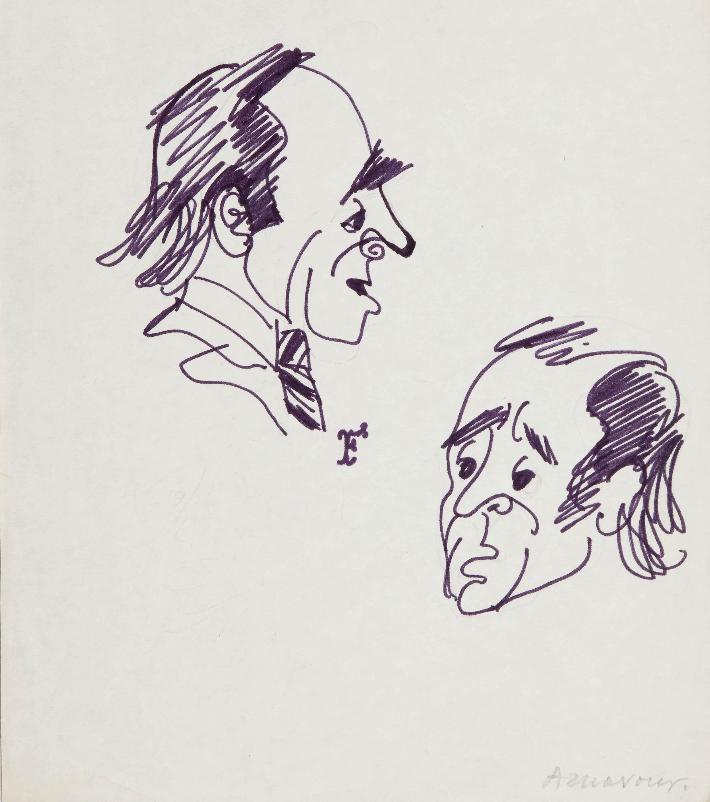 Charles Aznavour, karykatura