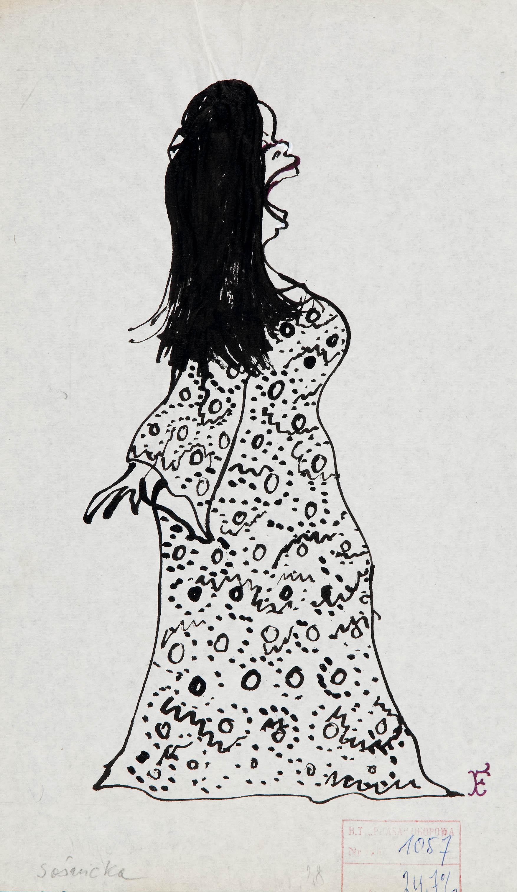 Zdzisława Sośnicka, karykatura