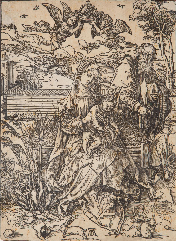 Święta rodzina z trzema zajączkami , około1497