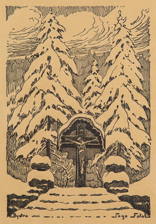 Kapliczka przy Fałatówce w Bystrej