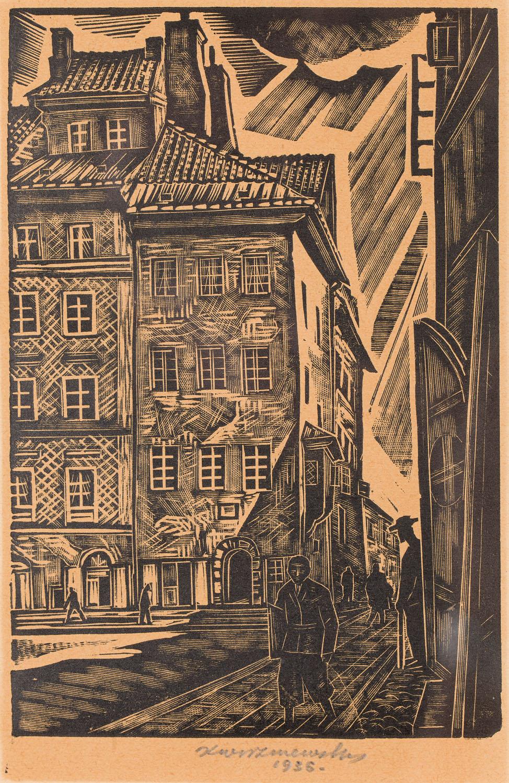 Stare Miasto w Warszawie - kamienica Ks. Skargi, 1936