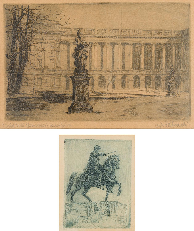 Pałac Saski oraz Pomnik Księcia Józefa Poniatowskiego