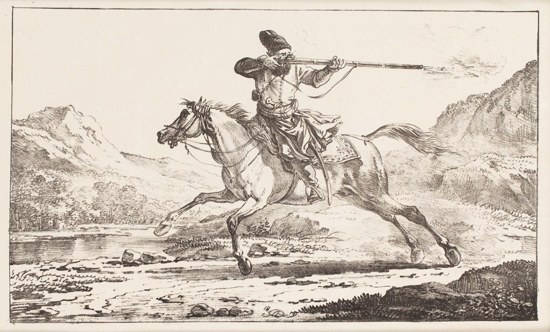 Kozak na cwałującym koniu, 1835