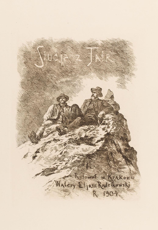 """Tytułowa akwaforta z teki """"Studia z Tatr"""", 1904"""