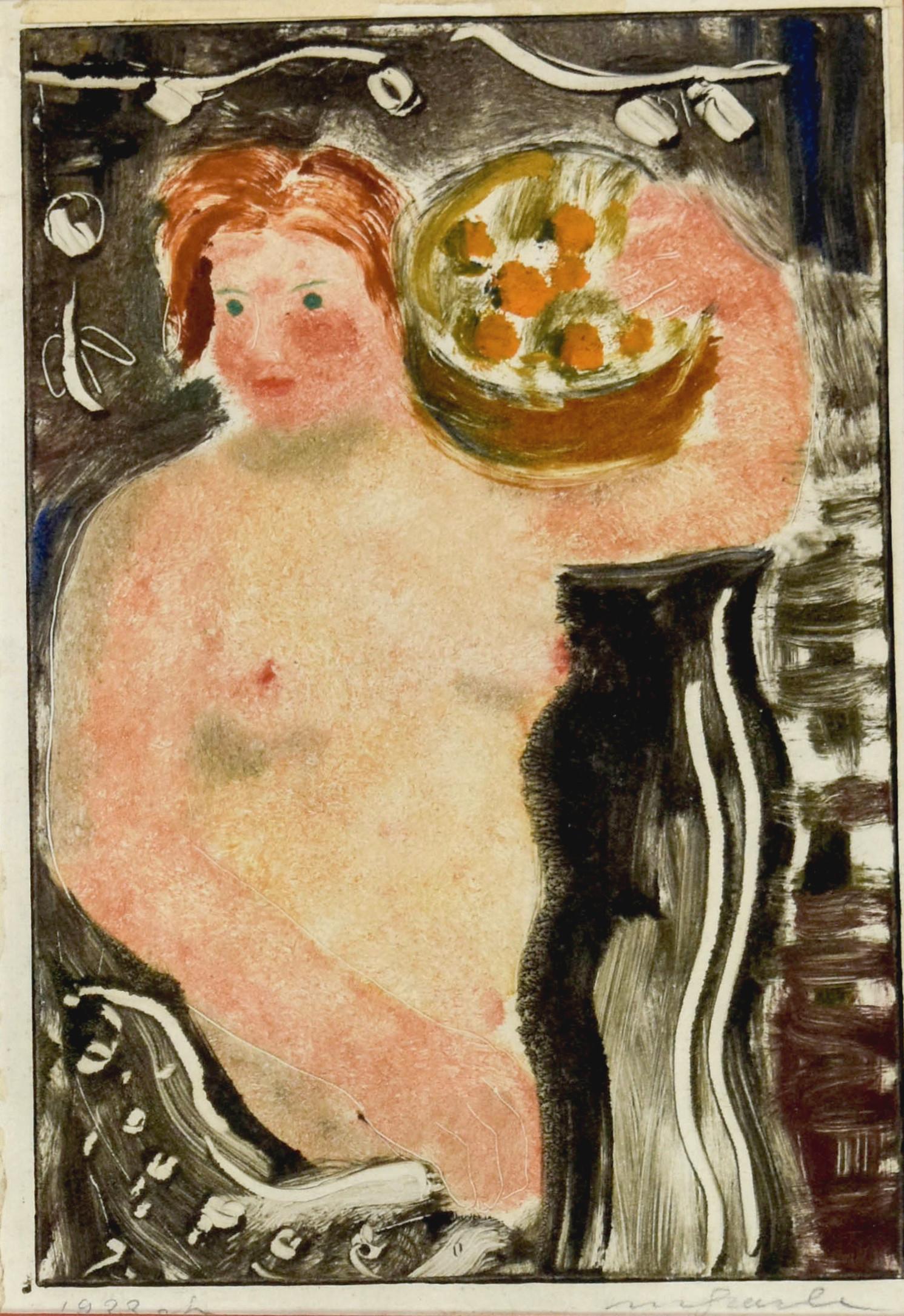 Akt kobiety z koszem owoców, 1928