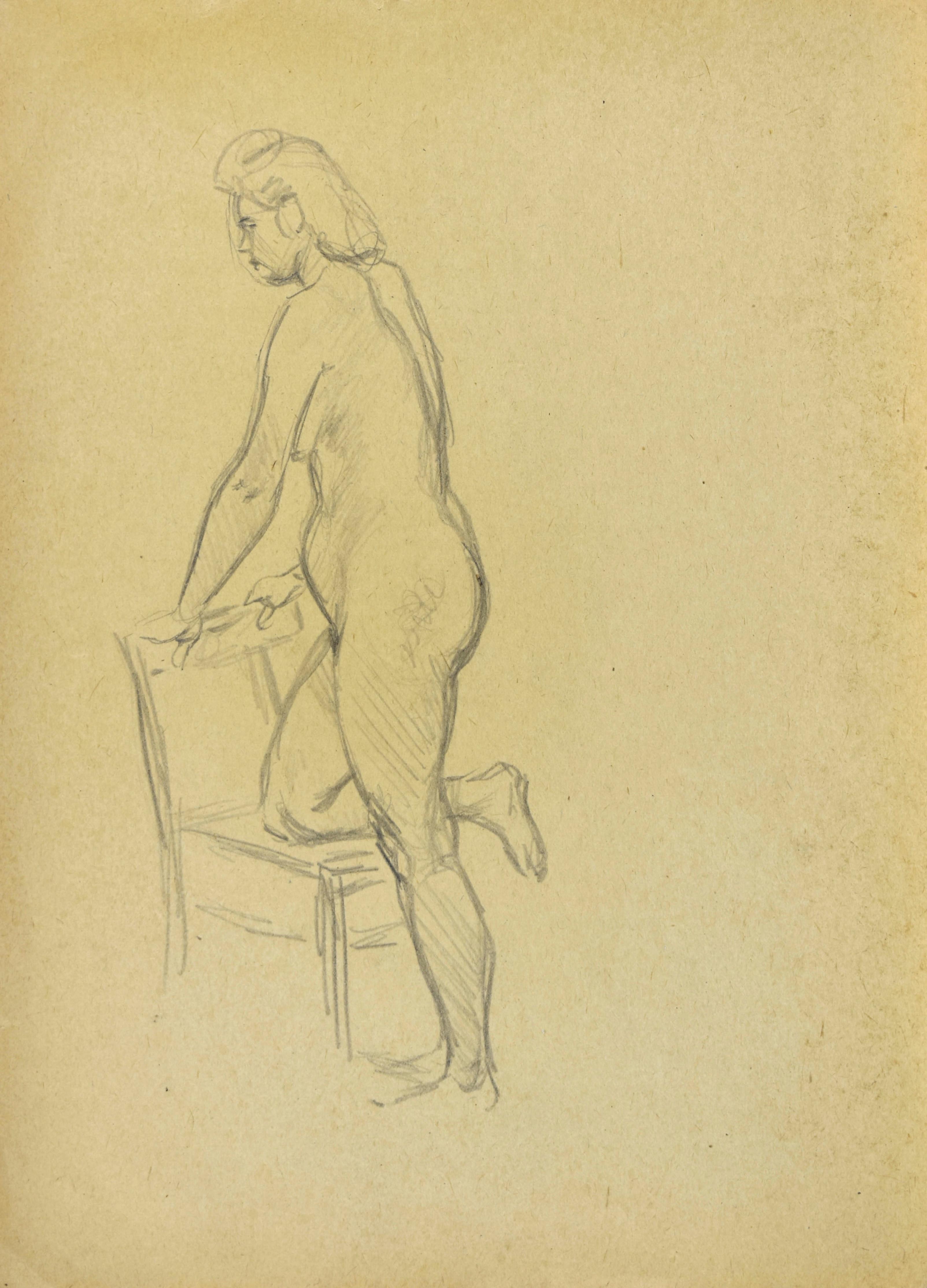 Studium aktu stojącej kobiety
