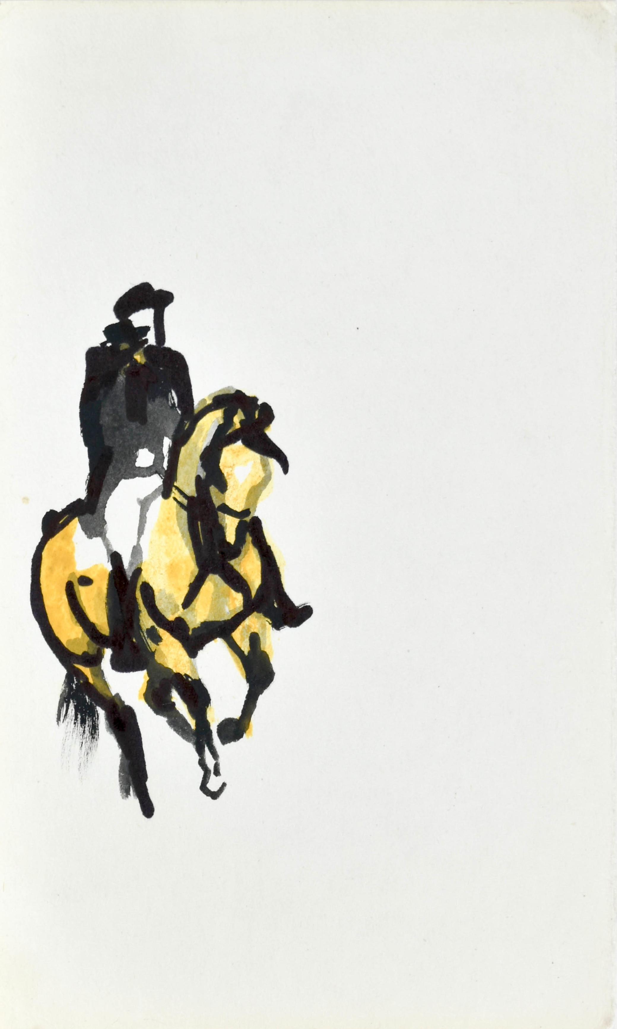 Dżokej na koniu