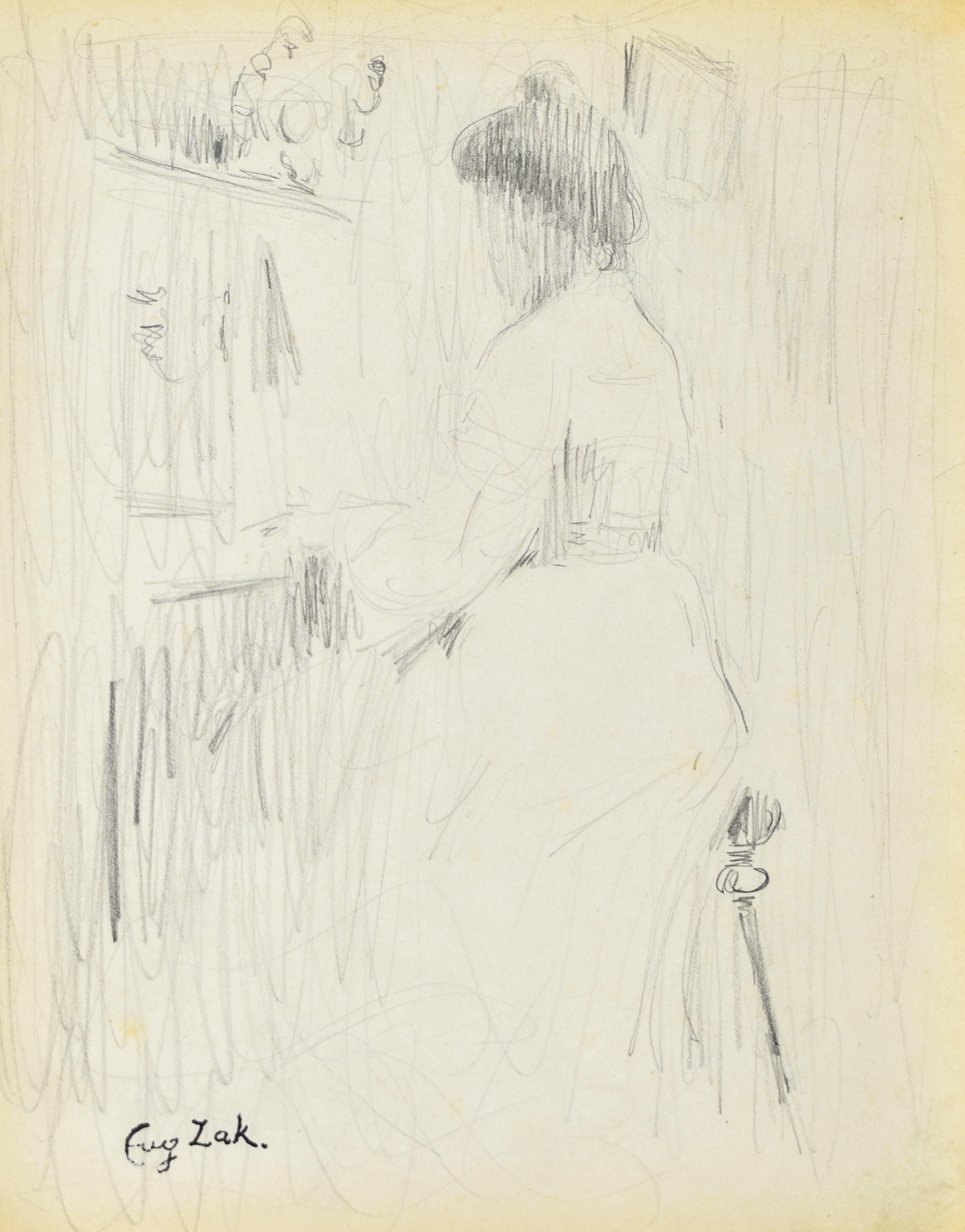 Kobieta przy pianinie II