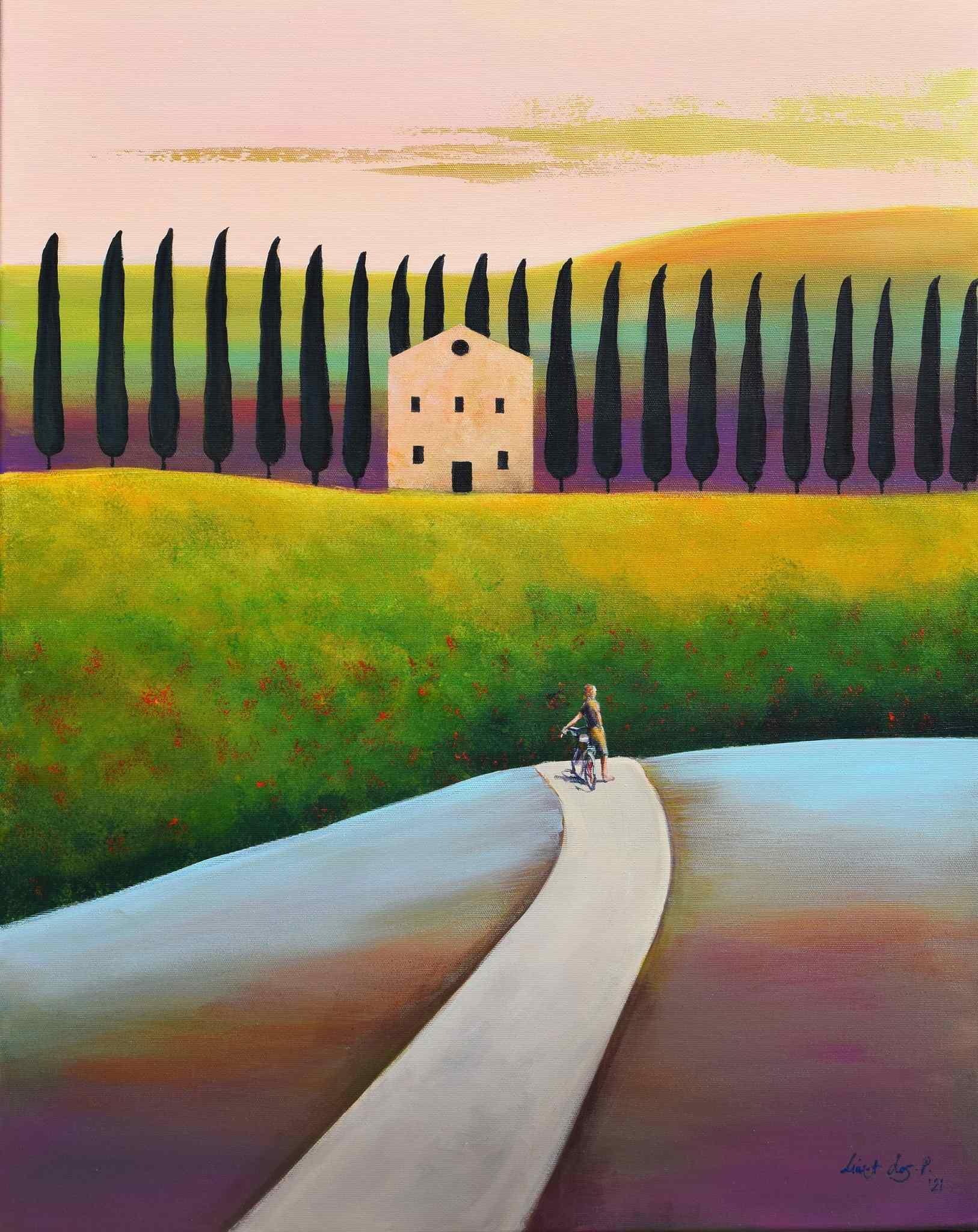 """Fattoria - powrót do domu, z cyklu """"Toskania"""", 2021"""