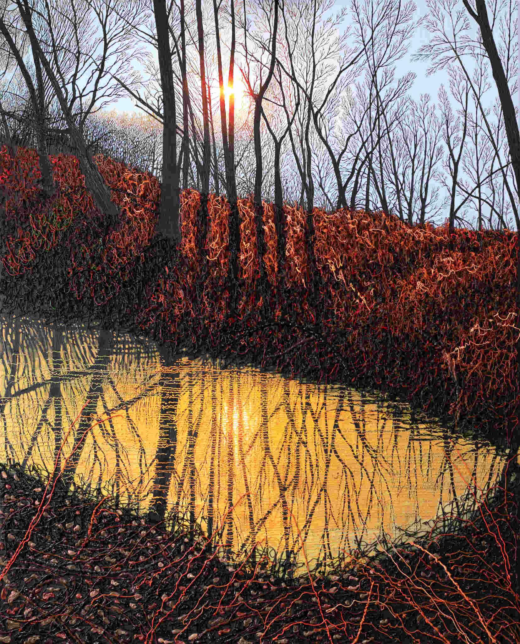 Złote jezioro w lesie, 2021