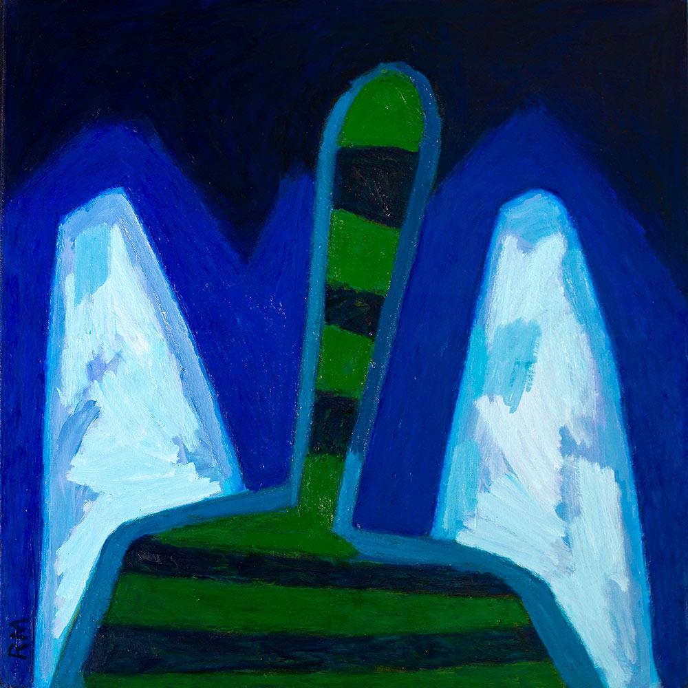 Anioł z błękitnymi skrzydłami