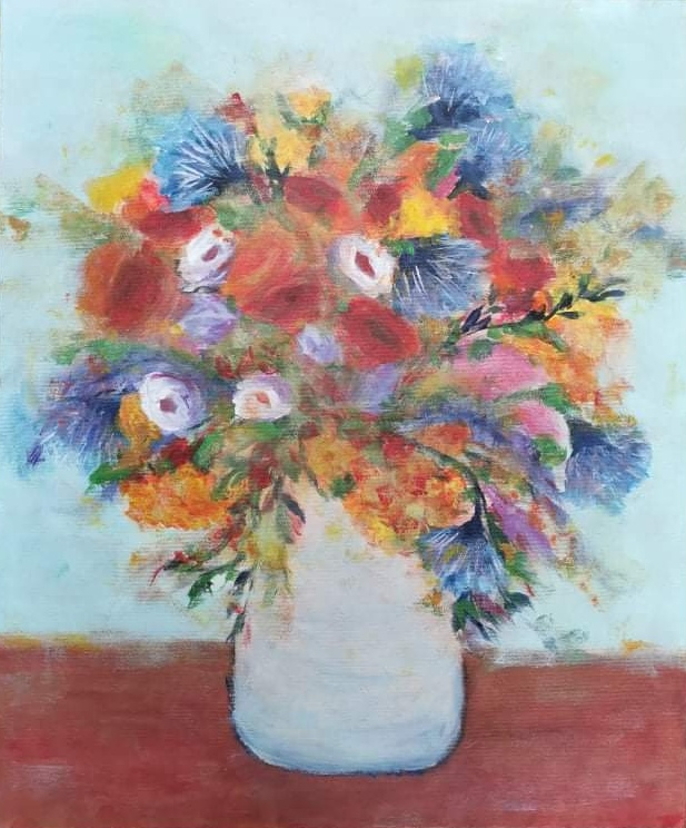 Kwiaty w wazonie, 2021