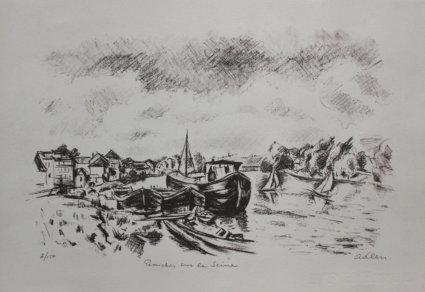 Peniches sur la Seine