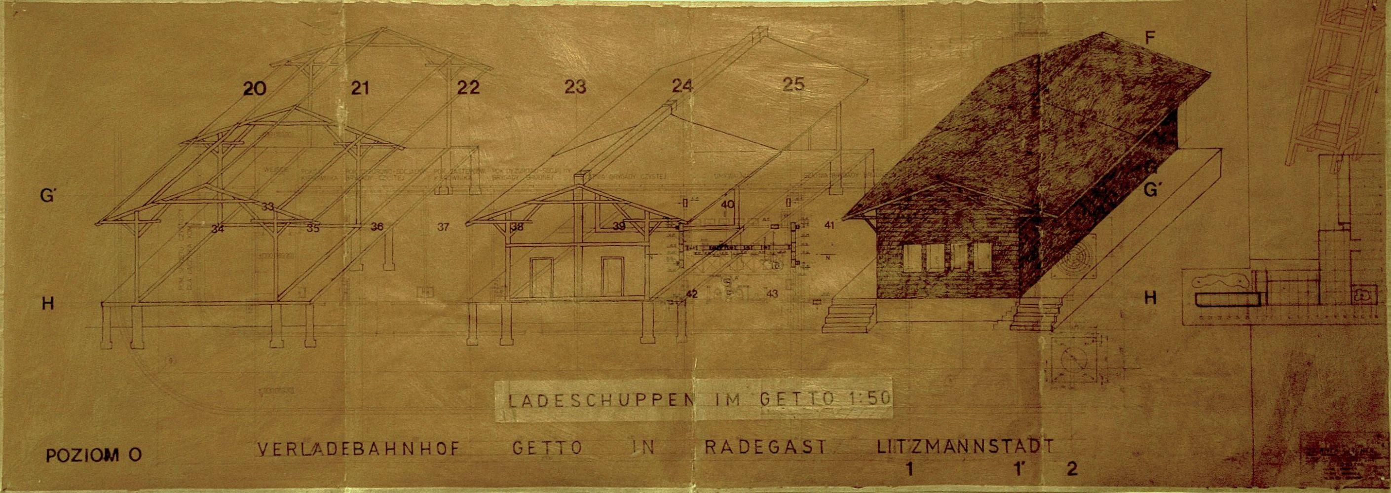 """Z cyklu """"Spis powszechny""""- Inwentaryzacja budynków, Verldebahnhof Radegast im Getto Litzmannstadt 1 (2010)"""