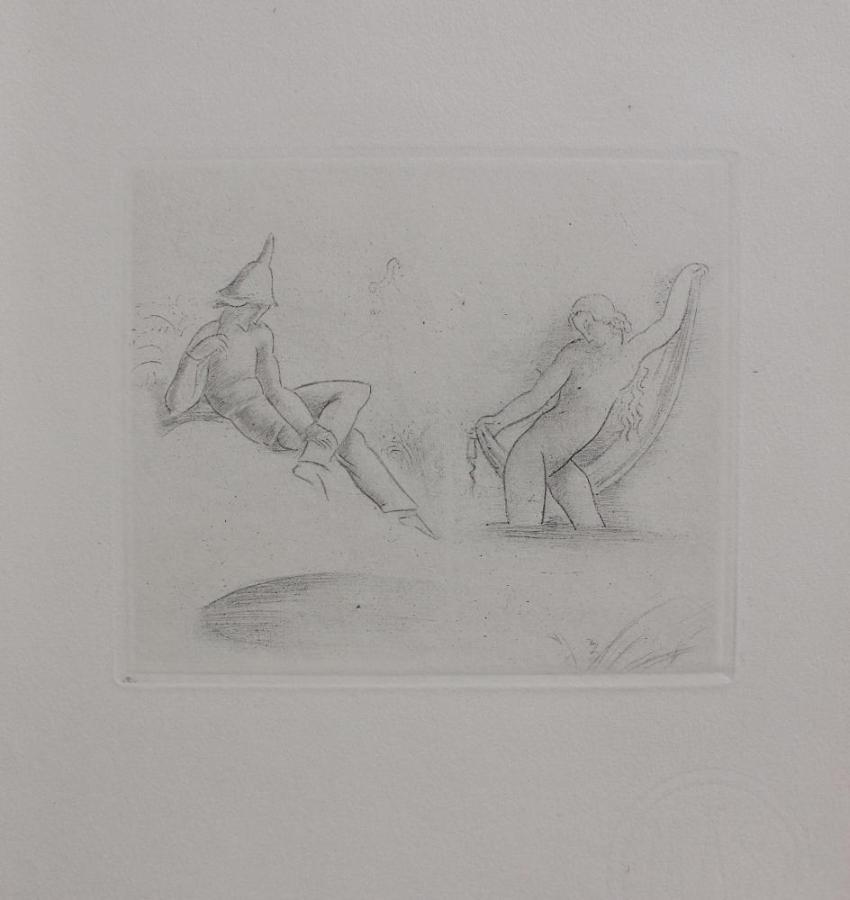 """Kąpiel (z """"La porte Lourde. Poémes en prose de René Morand, dessins hors-texte par Eugéne Zak"""", Paris 1929)"""