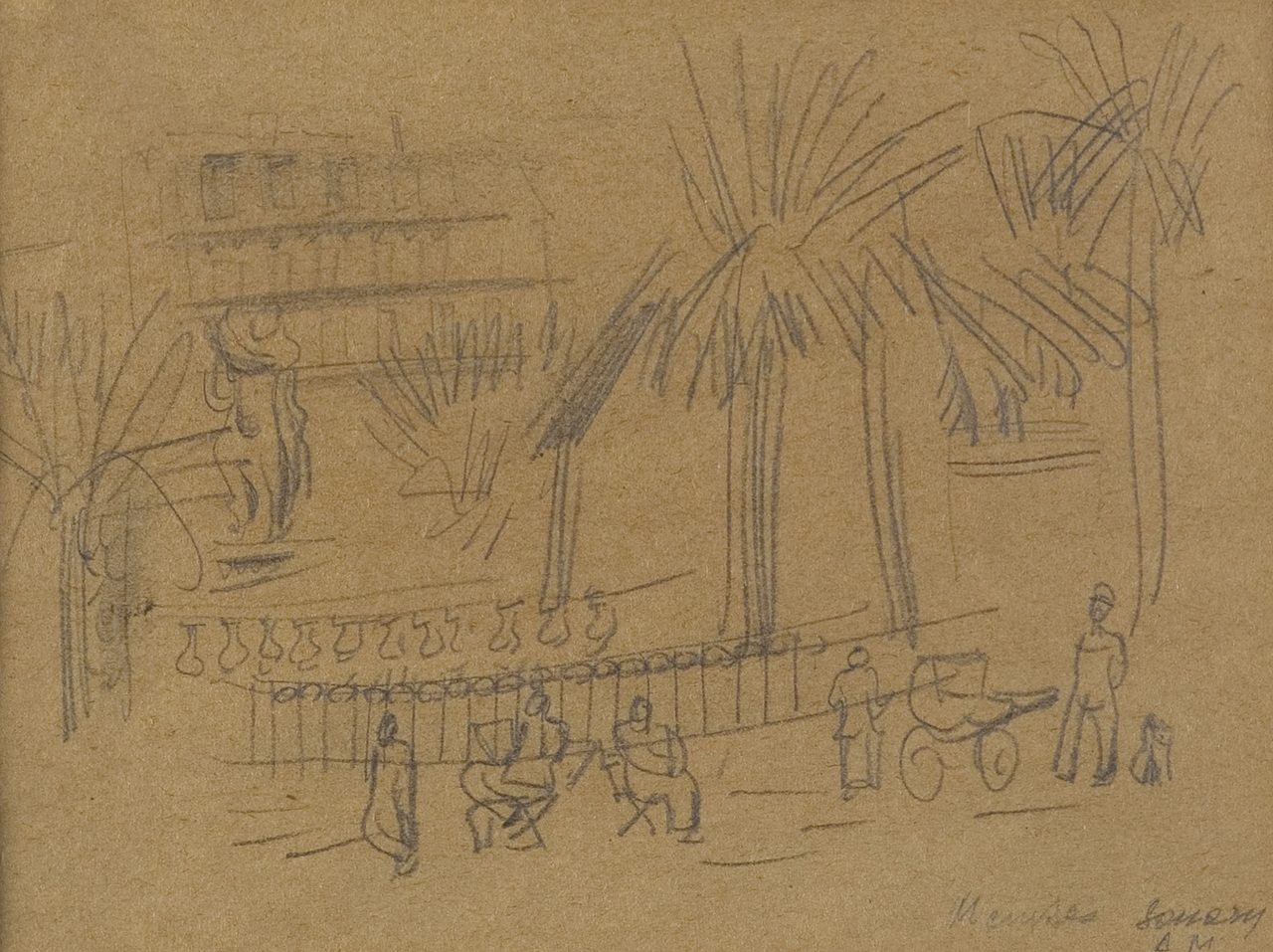 Ulicy w Sanary sur Mer, ok 1925 r.