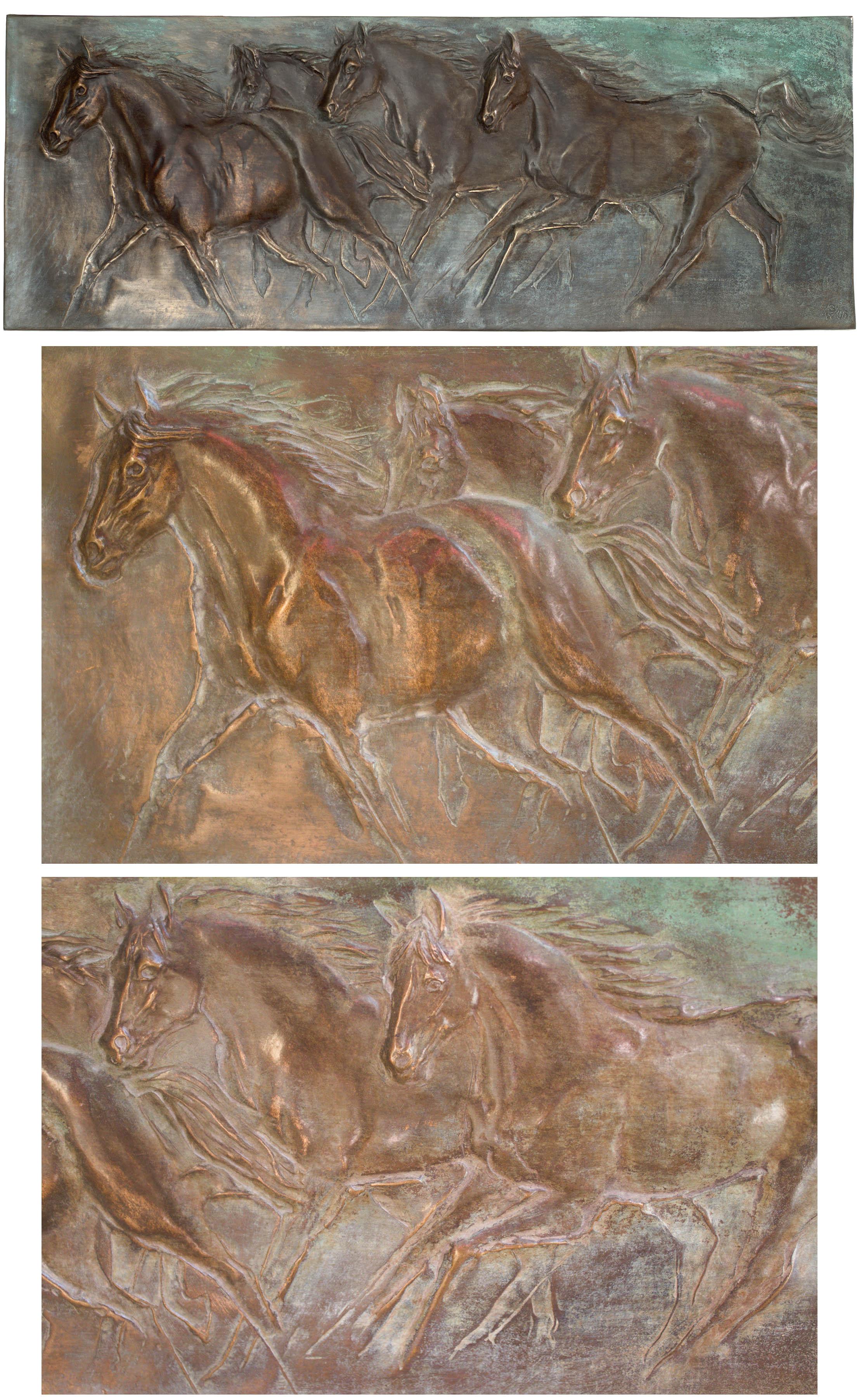 """""""Galop- 4 konie"""", unikat"""