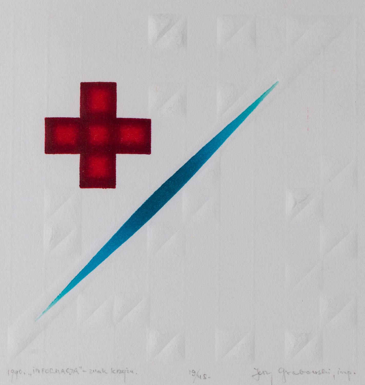 """""""Informacja - znak krzyża"""", 1990"""