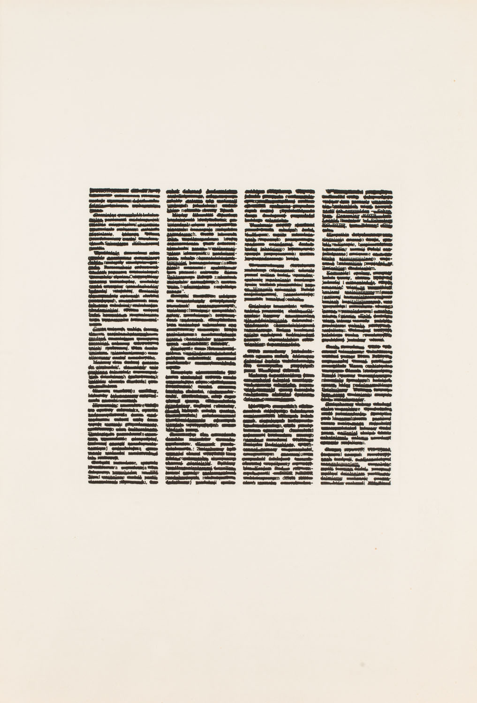 """Teksty skreślane"", 1977-1979"