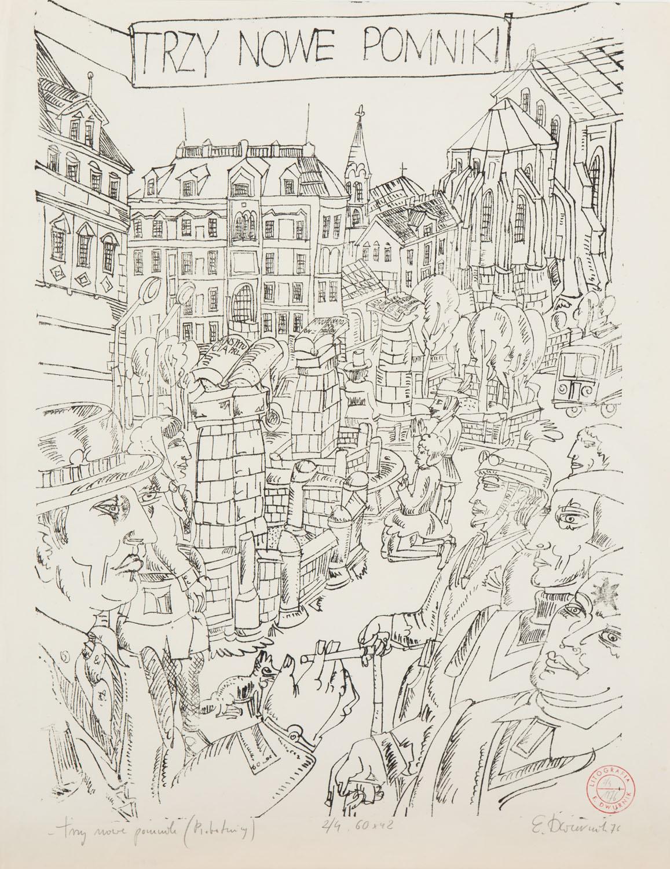 """""""Trzy nowe pomniki"""", 1976"""