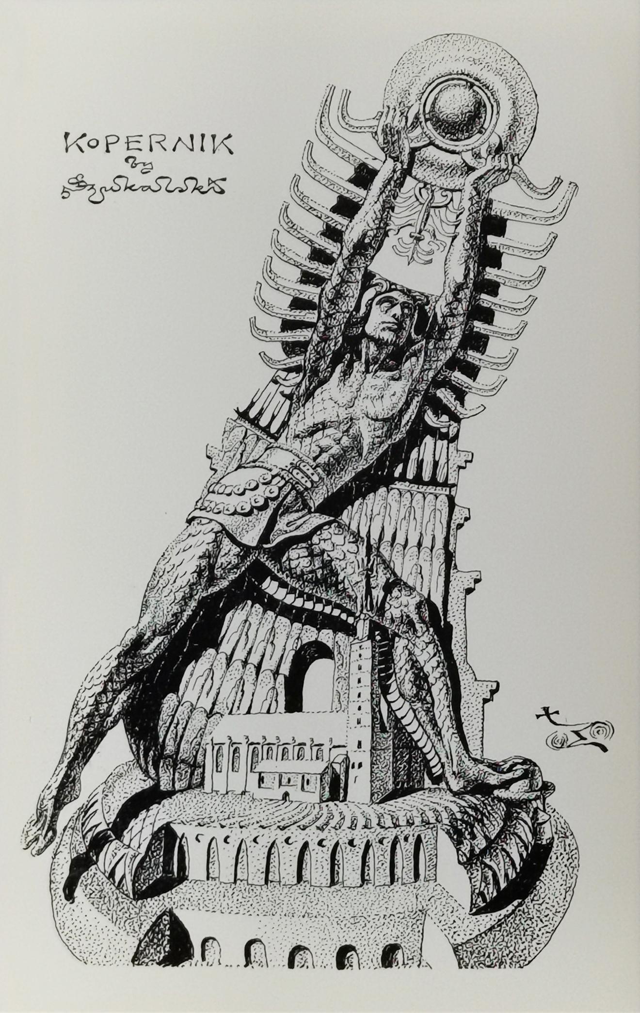 Kopernik - projekt pomnika, ok. 1973