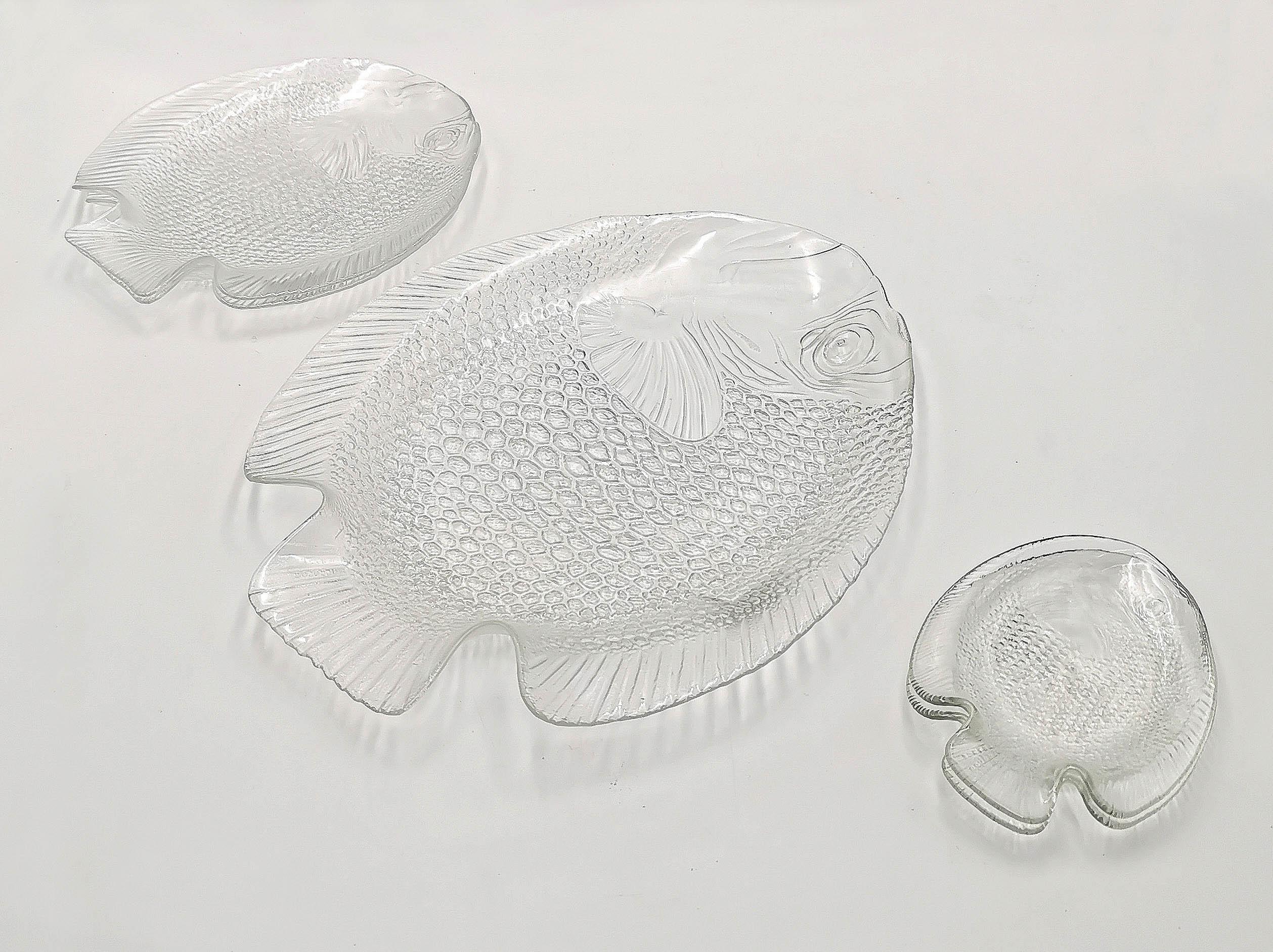 Zestaw 5 półmisków w kształcie ryb