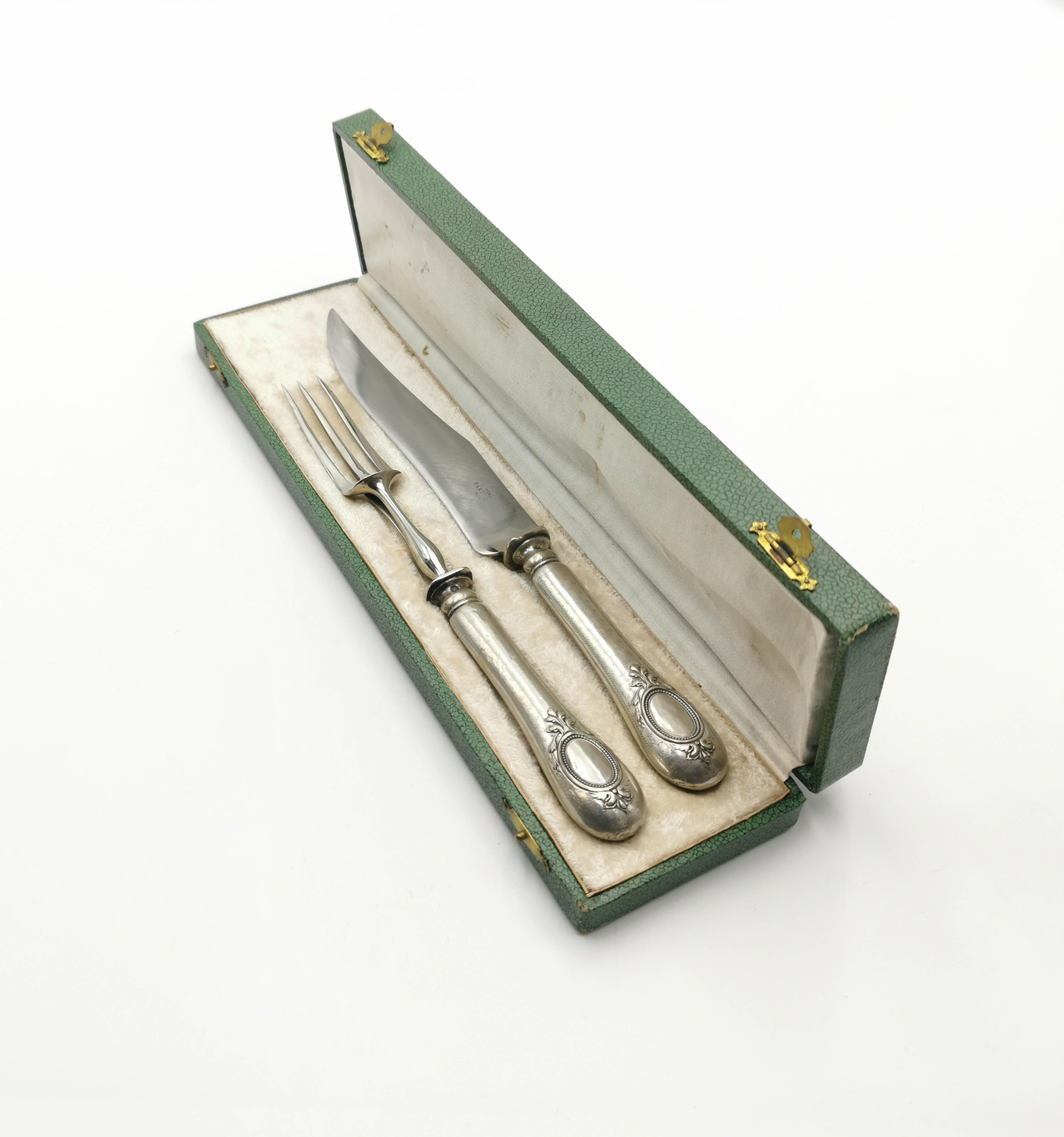 Środek stołu w etui-widelec, nóż