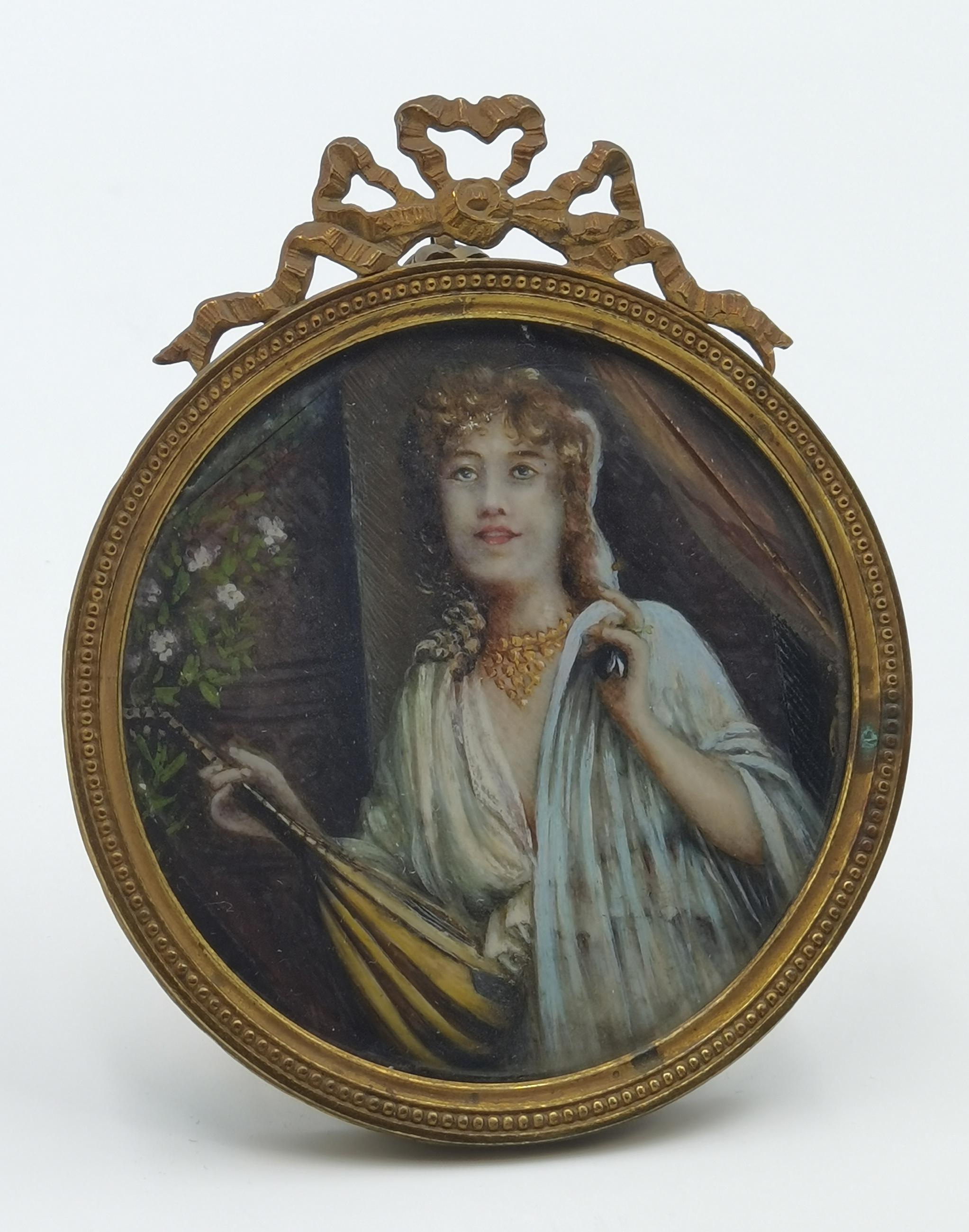 Kobieta z mandoliną - miniatura